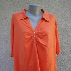 5XL Мека оранжева блуза Yessica