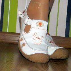 Бели анатомични летни дамски обувки от естествена кожа, 37 номер