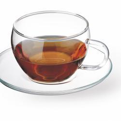 Комплект от 4 чаши за топли напитки със стъклени подложки Simax