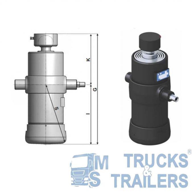 Хидравличен цилиндър 8т Hyva Ulb-110-5-1740-k169-40-1 2 -f-hc