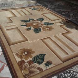 килим кафяво-зелен