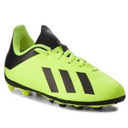 Ликвидация Спортни обувки за футбол калеври Adidas X18.4 Зелено