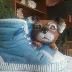 Декоративна саксия обувка