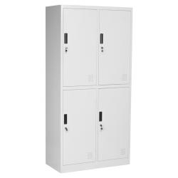 Метален гардероб четворен 185х90х45 см