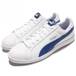 Ниски кецове естествена кожа Puma Smash Бяло Синьо