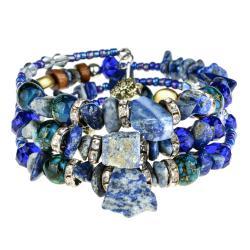 Ново Гривна с естествени камъни - Lapis Lazuli