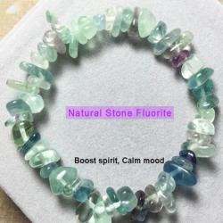 Ново Гривна с естествени камъни - Флуорит