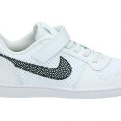 Намаление  Маратонки Nike Court Borough Бяло Черно