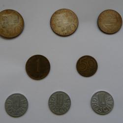 Лот от австрийски монети - 8 броя от 1960 до 1973г.