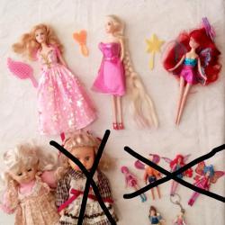 Кукли с различна големина на Уинкс и Дисни - 3лв.