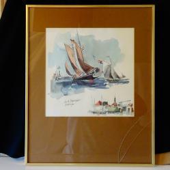 Картина кораби скандинавски художник.