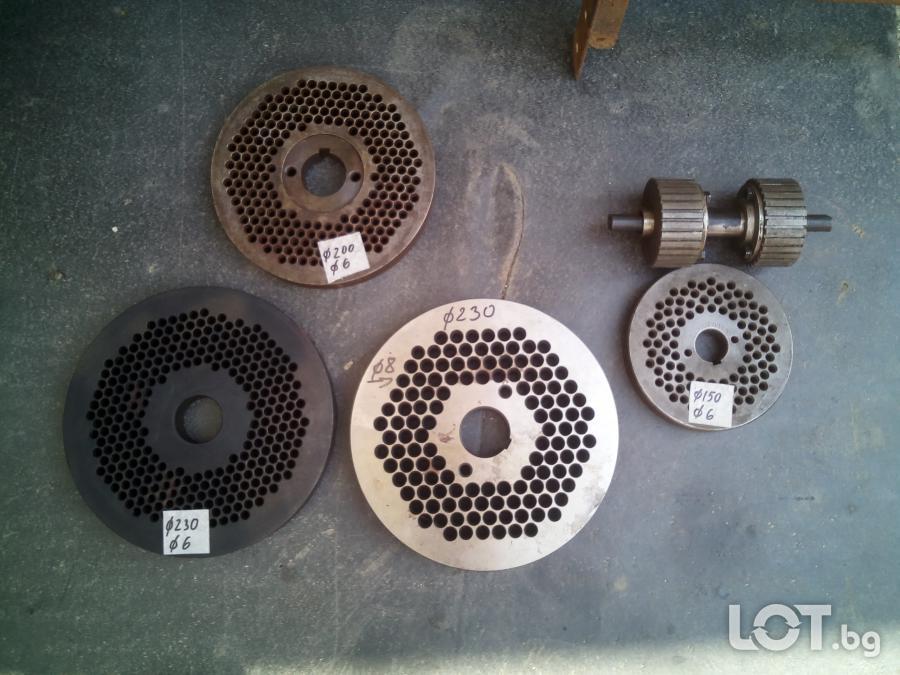 матрици и валяци на машини за производство на пелети