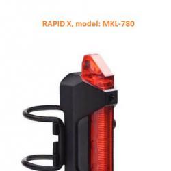 Задна светлина за велосипед, Rapid X, LED USB