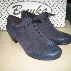 Дамски обувки м. 837 естествена кожа и естествен велур