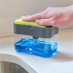 2453 Ръчен диспенсър дозатор за веро с кухненска гъба