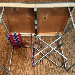 Сгъваем къмпинг сет - маса със стол за пикник - куфар