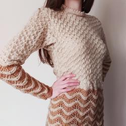 Ръчно плетена блуза в два цвята
