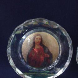 Икона кристална  кръст кристален
