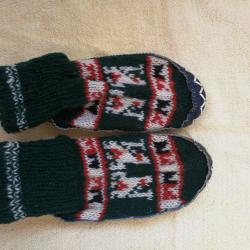 нови детски плетени пантофки
