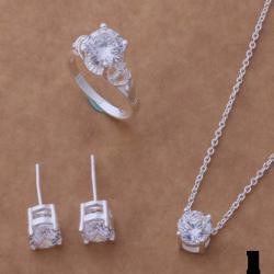 Ново Сребърни комплекти с камъни цирконий