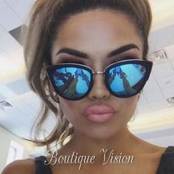 Ново Сини огледални слънчеви очила Louis Vuitton, ув защита 400