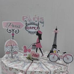 Картонена хартиена торта Париж