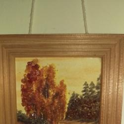 Картина с кехлибар 13,5 х 11,5 см