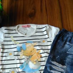 Детски комплект блузка и клин