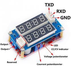Регулируем захранващ CC CV модул за зареждане 5А Волтметър Амперметъ