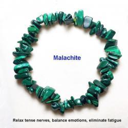 Ново Гривна с естествени камъни - Малахит
