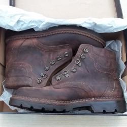Мъжки кафяви обувки боти кларк от набук