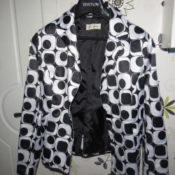 Елегантно черно - бяло сако, S номер