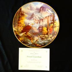 Рисувана канадска чиния Winston Roland порцелан, сертификат.