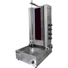 Машина за дюнер с долен мотор на ток със стъклен нагревател - 4 пити