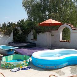 Винилов надуваем басейн басейн с твърд борд надуваем матрак дюшек и ле