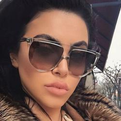 Ново Слънчеви очила Селин в кафяво, ув защита 400