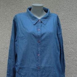 4XL Нова дънкова риза Basic Editions