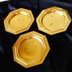 Месингови чинийки, подложки за чаши.