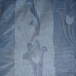 Син прозрачен плат с ширит