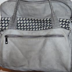 Уникална чанта Solinda Vera Pelle, Италия, няколко нюанса сиво