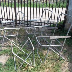 Сгъваеми алуминиеви столове стол за къмпинг риболов градина