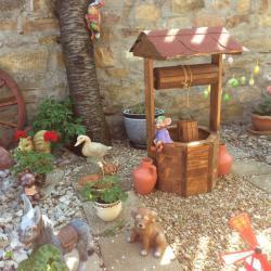 Дървени кладенчета за декорация