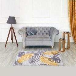 2340 Постелка килимче Оранжеви тропически листа, 100х150см