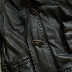 Мъжко кожено яке-телешка кожа-3 4 дължина-р-р L