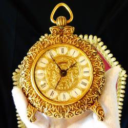 Lancel френски механичен часовник, позлата.