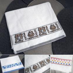 2445 Кърпа за ръце с декорация хавлиена кърпа за лице, 29x50cm