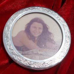 Сребърна рамка за снимка.