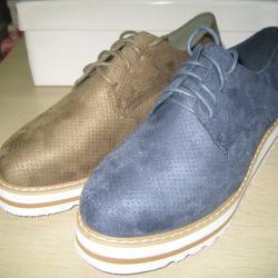 Дам. обувки черни, сини и маслина 100  -  725