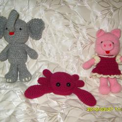 Ръчно плетени играчки, Амигуруми, Плетени животни