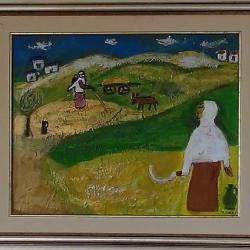 Продавам масмена картина Жътва